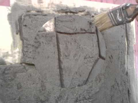 Декоративная штукатурка своими руками видео под камень