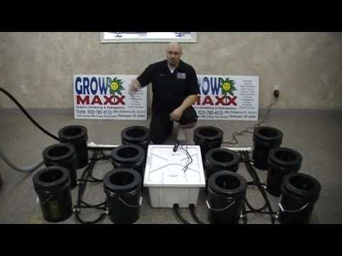 Aeroponic Plant Growing Bucket System.  The Maxx Power PRO 12