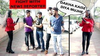News Reporter Clash Prank   Funniest NEWS Interruptions   Pranks in India   Unglibaaz