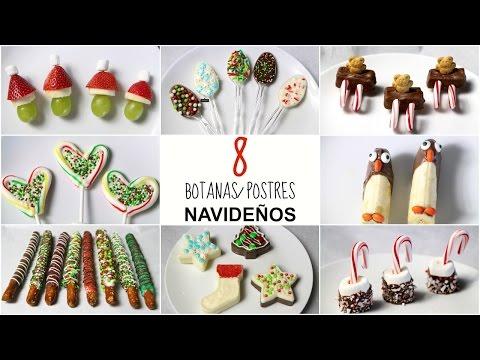8 BOTANAS/POSTRES NAVIDEÑOS!