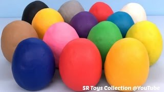 Fun Learning Colours for Kids with Play Doh Surprise Eggs Tom and Jerry Toy Story Finding Dory Toys