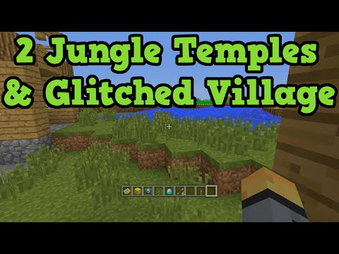 Minecraft Xbox 360 + PS3 Seed GLITCH VILLAGE & 2 Jungle Temples