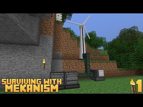Surviving With Mekanism v9 :: Ep.1 - Wind Generator & Metallurgic Infuser