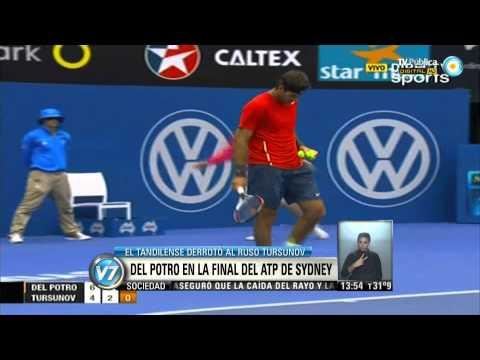 Visión 7: Del Potro es finalista en el ATP de Sydney