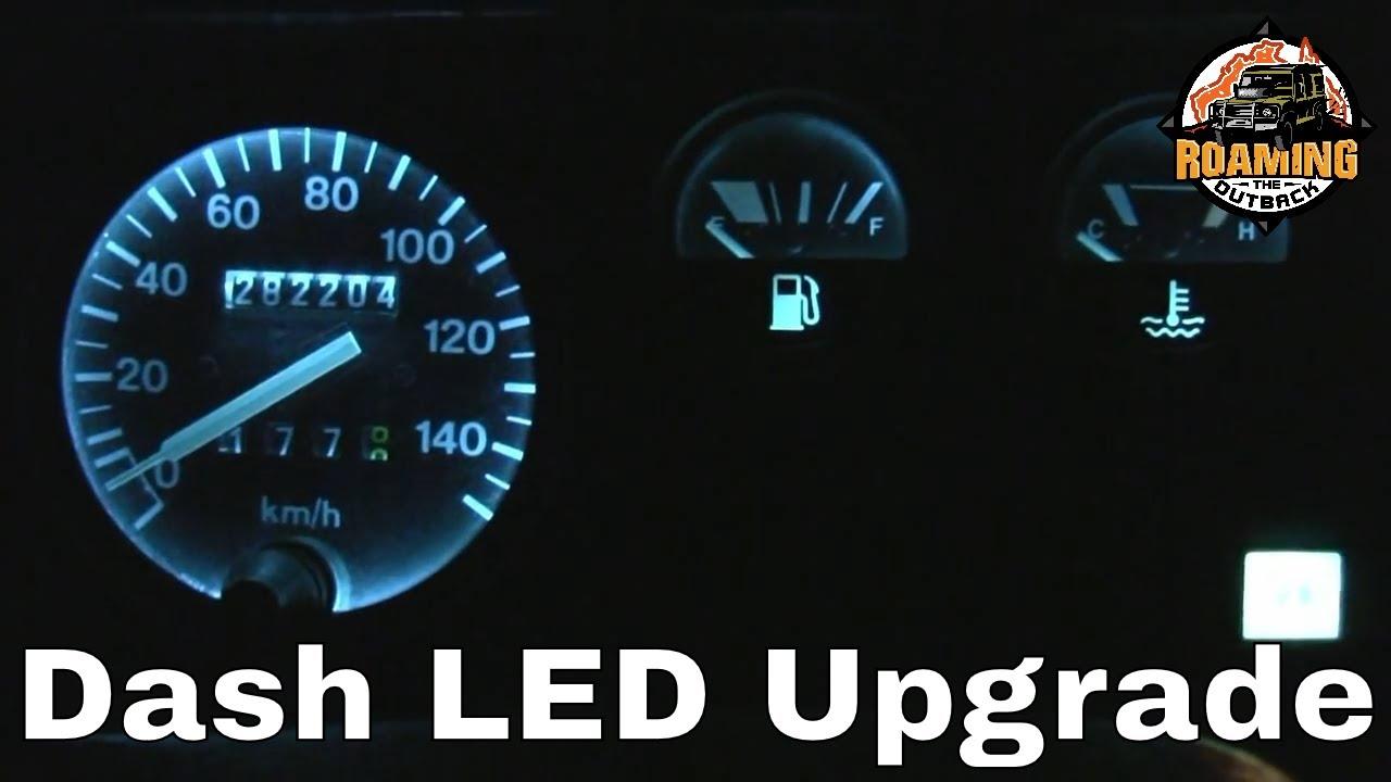 Land Rover Defender Led Dash Lighting Upgrade Youtube