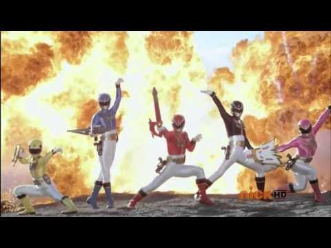 Power Rangers Megaforce & Samurai Morph And Fight (Fan Made)