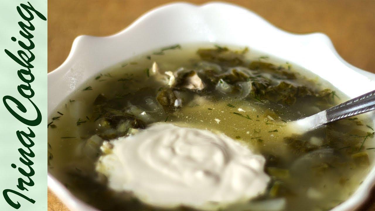 Зелёные щи с щавелем и яйцом рецепт пошагово с