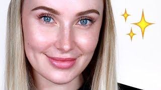 HOW TO: Fake Great Skin WITHOUT Foundation! | Lauren Curtis