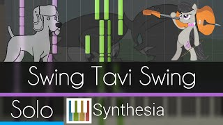 Swing Tavi Swing - |SOLO PIANO TUTORIAL w/VOCALS| -- Synthesia HD