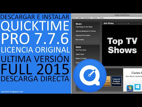 Quicktime Professional 7.7.6│Licencia original│Ultima versión│Descargar e Instalar Full 2015│HD