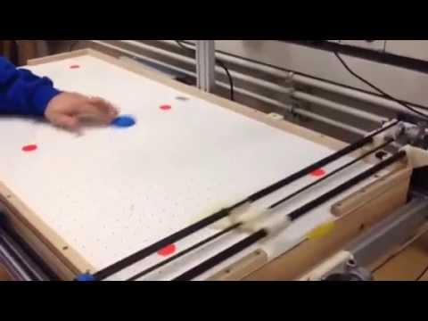Air Hockey 2D Robot: Defensive Mode