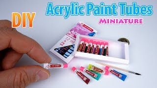 DIY Miniature Acrylic Paint Set | DollHouse | No Polymer Clay!