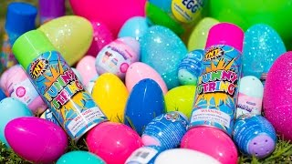 HUGE Silly String Easter Egg Hunt Paw Patrol Shopkins Bunny Surprise Eggs for Kids Kinder Playtime