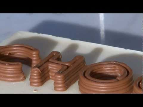 World's first chocolate printer
