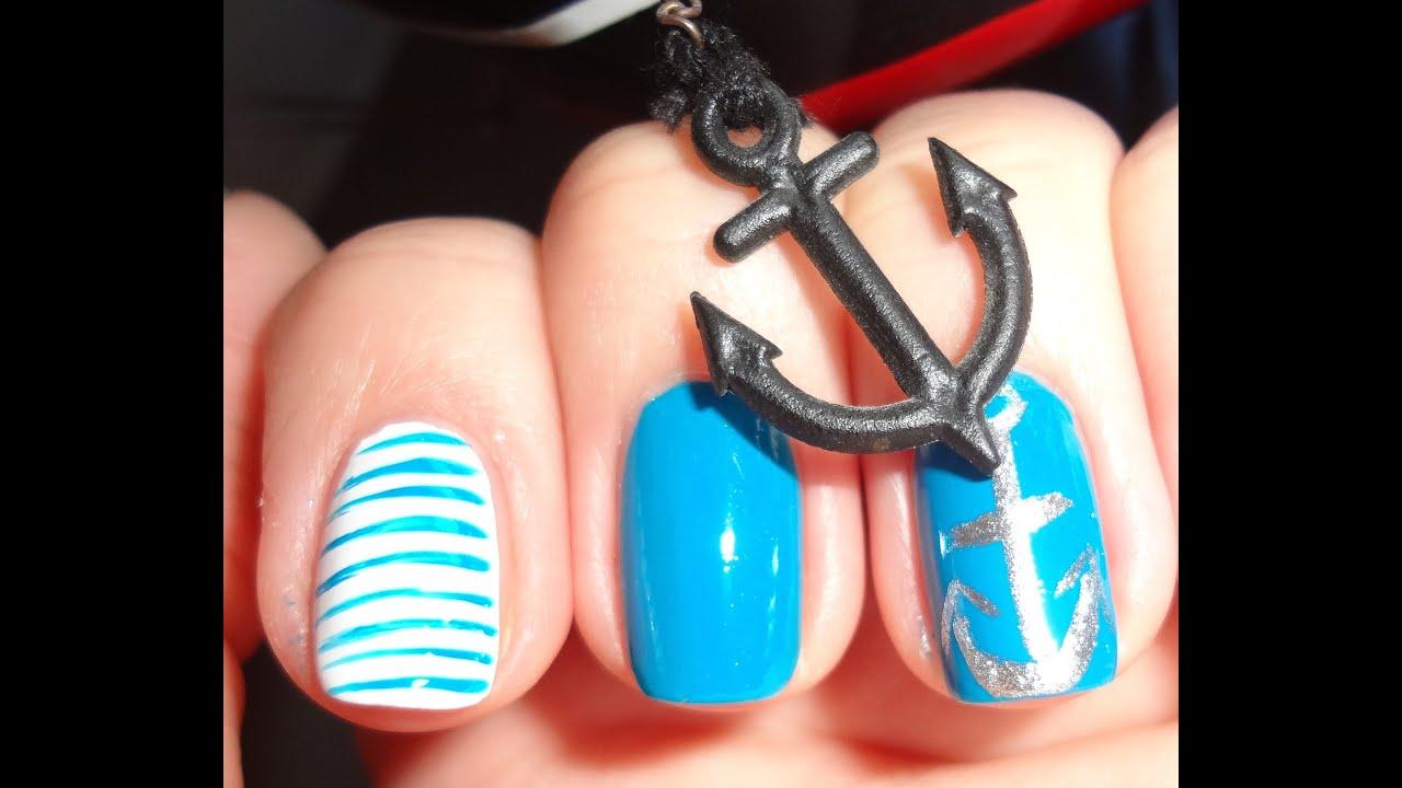 дизайн ногтей морская тематика: