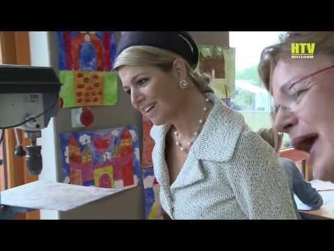 Koningin Maxima bezoekt het Fioretti College in Hillegom