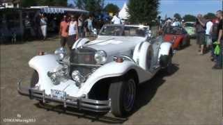 Excalibur phaeton serie 04 (IV) car (roadster) in motion, sound very beautyfull neo-retro auto,
