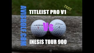 La balle INESIS tour 900 comparée avec la balle TITLEIST Pro V1 by Avisgolf
