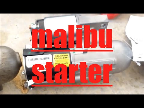 DIY How to replace install starter Chevy Chevrolet Malibu Impala Monte Carlo