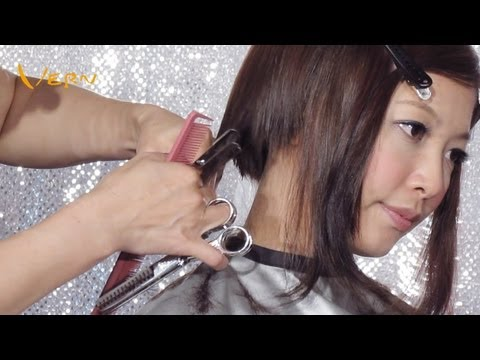 2014Curly Bangs Pixie Concave Bob women haircut by Cherry,郭雪芙小臉正妹短髮,Vern Hairstyles 13