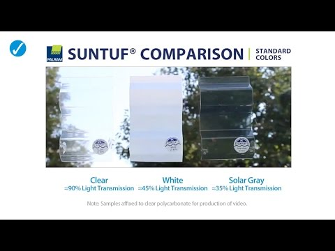 SUNTUF Standard Color Comparison