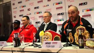 TYSON FURY - 'I WOULD BE HAPPY TO REMATCH WLADIMIR KLITSCHKO IN GERMANY' / KLITSCHKO v FURY