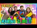 24 HOURS OF MAKING SLIME OVERNIGHT CHALLENGE We Are The Davises mp3