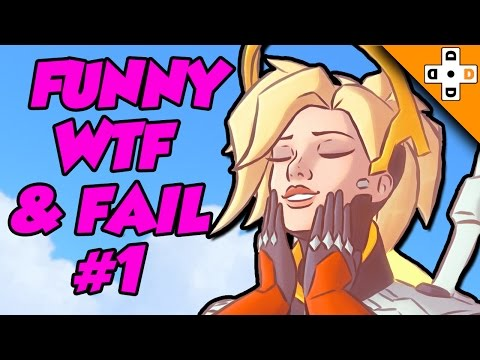 Overwatch FUNNY WTF & FAIL Moments #1 - MERCY'S PISTOL IS MAGIC?! - Highlights Montage