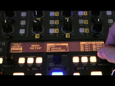 Konfiguracja Behringer DDM-4000 - MIDI Settings