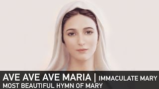 Ave Ave Ave Maria (Immaculate Mary) :Best Catholic Marian Hymn Lourdes (collash video)