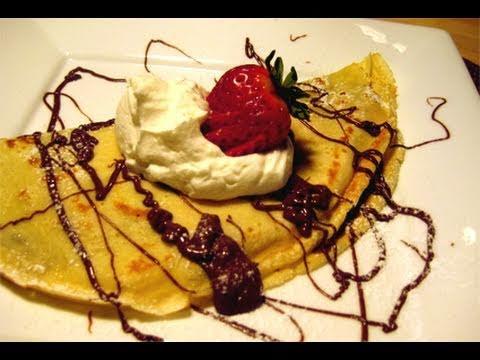 "Nutella & Strawberry Filled Crepes Recipe Video - Laura Vitale ""Laur..."