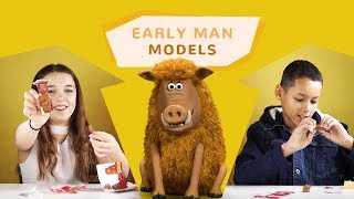 KIDS KNOW MOVIES | KIDS MAKE THEIR VERY OWN EARLY MAN MODELS