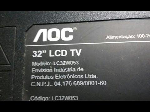 Conserto: TV AOC LC32W053 - TV apagada  LED vermelho piscando.