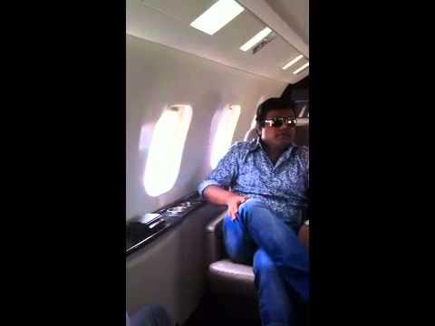 Harris jayaraj in a Lear jet