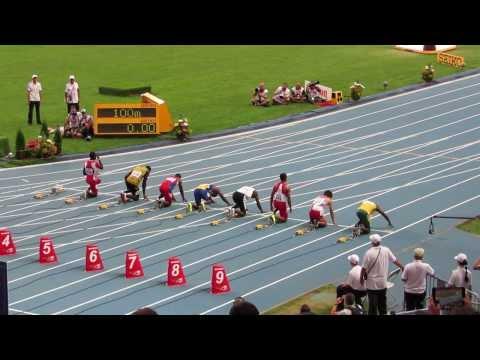 Забег на 100 метров - Усейн Болт (Usain Bolt). Чемпионат мира по легкой атлетике в Москве - 2013
