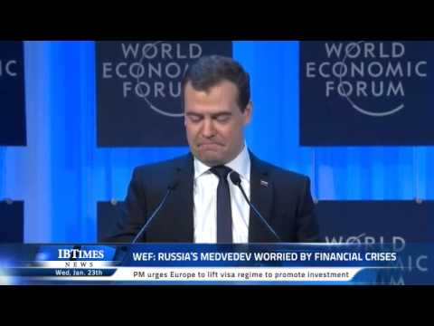 WEF: Russia's Medvedev worried by financial crises