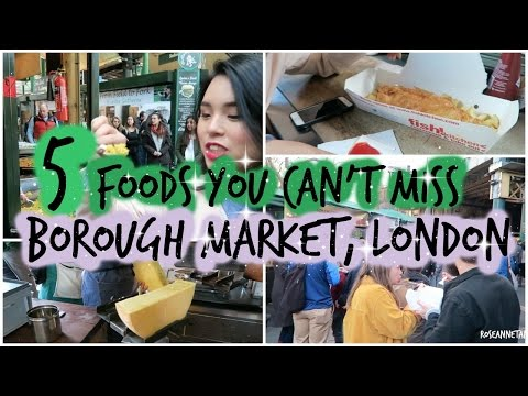 Trying 5 Delicious Foods at Borough Market in London!