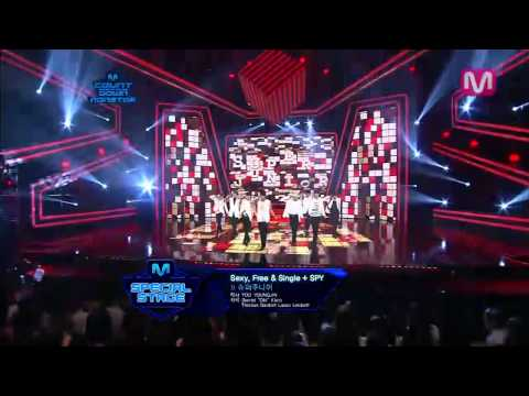 Mr.simple + Sexy,free & Single + Spy By Super Junior mcountdown 2012.08.02 video