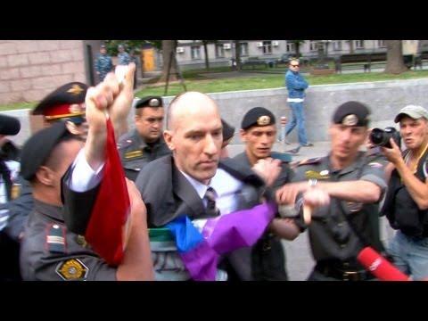 Protest dispersat cu sălbăticie la Moscova