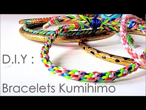 Diy comment faire des bracelets avec la technique de kumihimo kumihimo patterns youtube - Comment faire les bracelet elastique ...