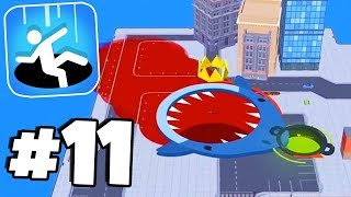 BLOODY SHARK & WET WHALE SKINS!  - Hole.io Gameplay Tips & Tricks Walkthrough Part 11