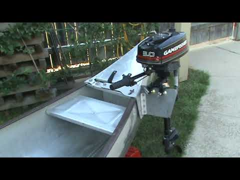 grumman with outboard motor youtube