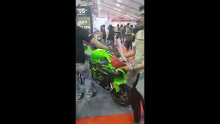 Kawasaki zx10r killer exhaust sound || at autocar expo 2018 bkc mumbai