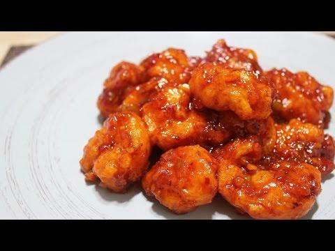 깐쇼새우. Deep-fried Shrimp in Spicy Sauce 반찬만들기#15
