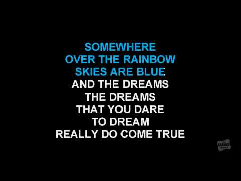 Somewhere Over The Rainbow (Radio Version) in the style of Katharine McPhee karaoke video