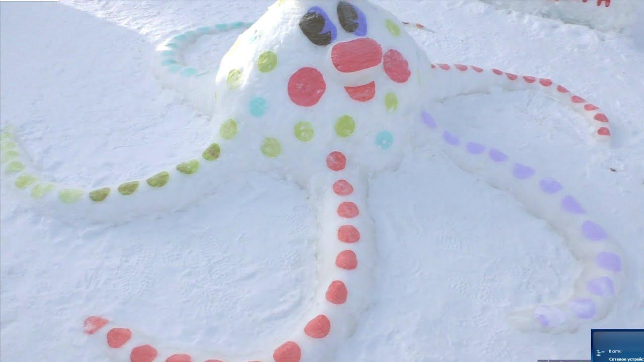 Простые фигурки из снега своими руками для детей