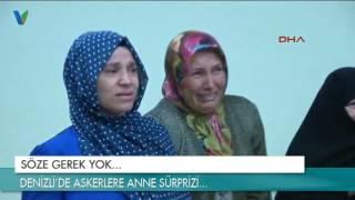Denizli'de askerlere anne sürprizi