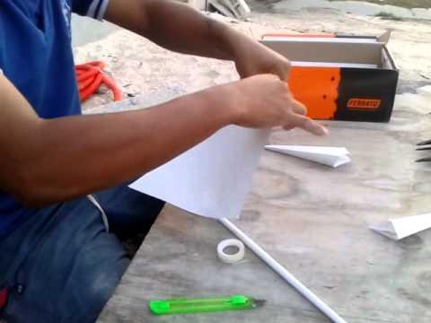 como haser un kunai de papel
