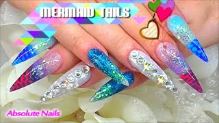 MERMAID TAILS ACRYLIC NAILS | ABSOLUTE NAILS