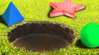 SHAPED GOLF BALL MODS! (Golf With Your Friends)